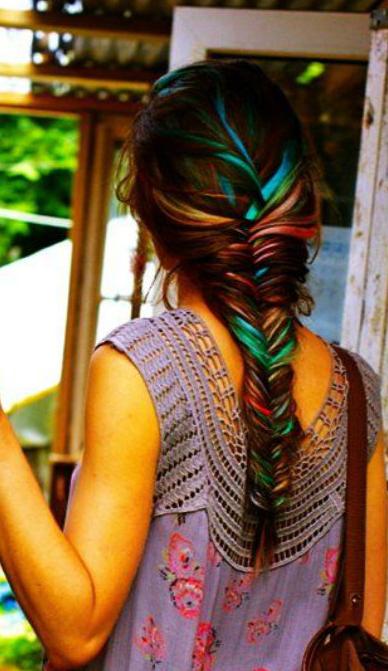 Oil Slick Hair The Epic New Rainbow Hair Technique
