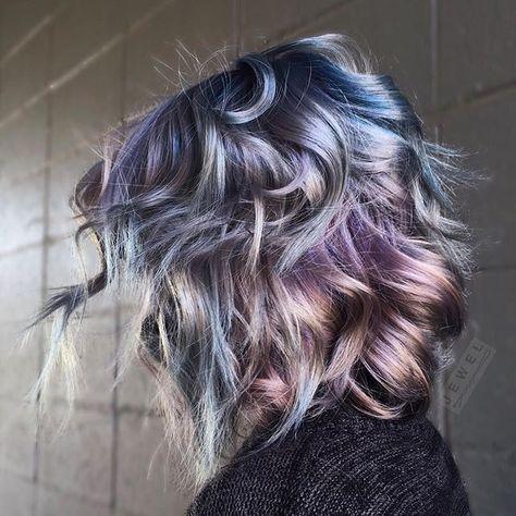 Populair Oil Slick Hair: The Epic New Rainbow Hair Technique &KC08