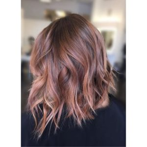 peachy blush balayage