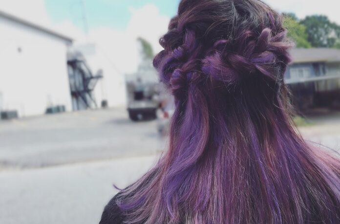purple balayage hair color ideas