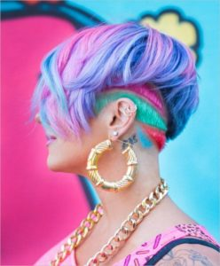 rainbow carved undercut