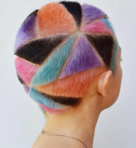 rainbow hair carving