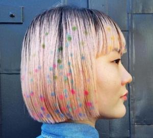 rainbow hair stencil