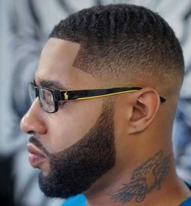 short fade with wave texture