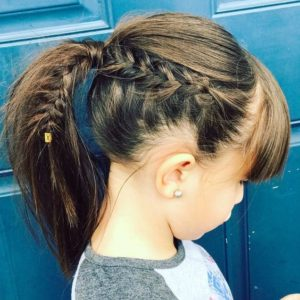 side braid ponytail