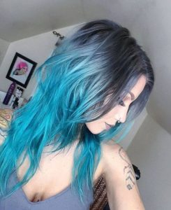 steely blues ombre