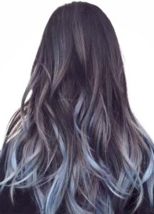subtle denim balayage