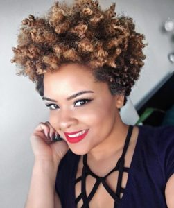 tapered curls pixie