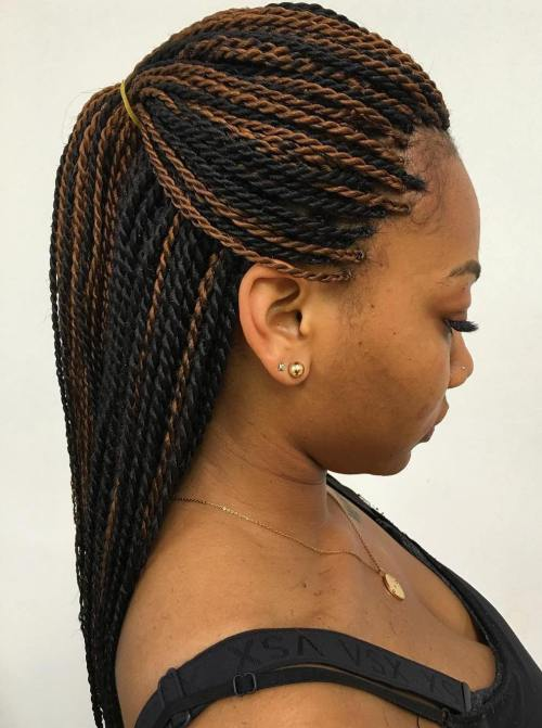 16black And Brown Senegalese Twists