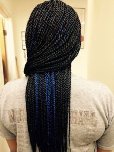 Blue Peekaboo Braids