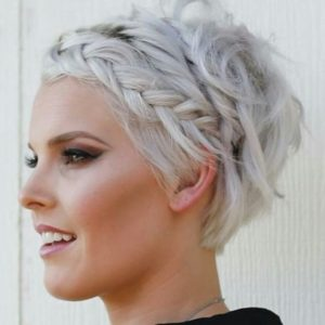 Braided Bangs Pixie