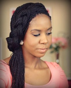 Braided Senegalese Twist Style