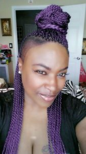 Purple Side Shaved Twists