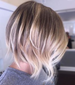 Summery blonde balayage