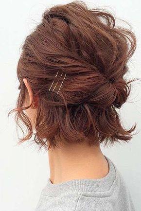 35 modern romantic wedding hairstyles for short hair  part 9