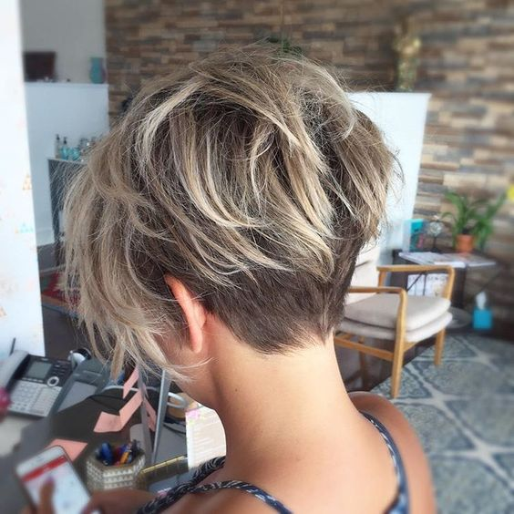 Pixie in the back and bob in the front, this short haircut helps to control  thick hair with a closely cropped undercut. This undercut isn\u0027t so short  that it