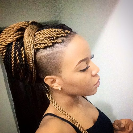 For An Edgy But Trendy Way To Wear A Senegalese Twist Style Pair The Long Rope Braids With Shaved Hair At Sides Fewer Twists On Your Head