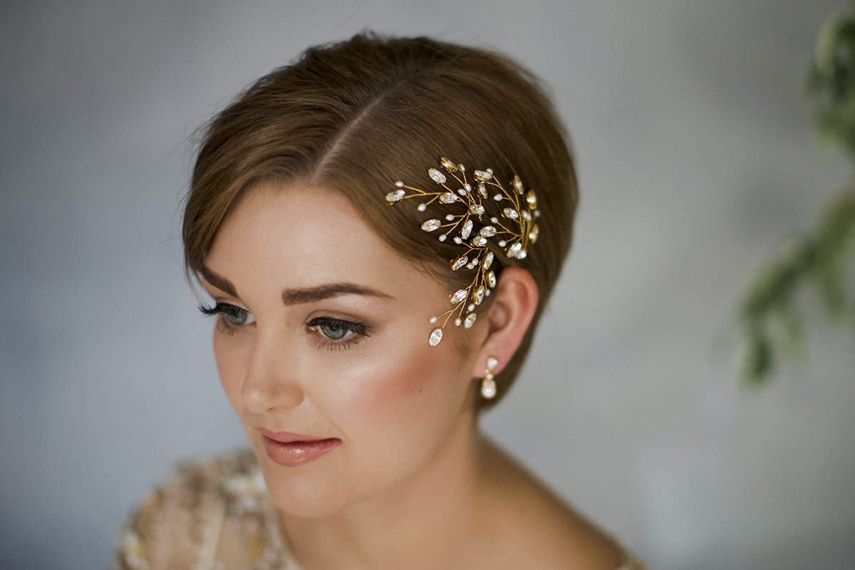 Hairstyles: 35 Modern Romantic Wedding Hairstyles For Short Hair