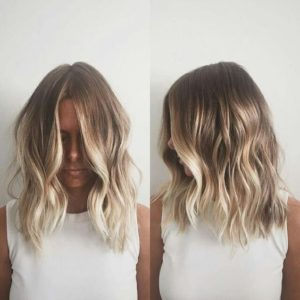 beach waves balayage