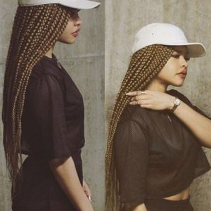 hat and braids
