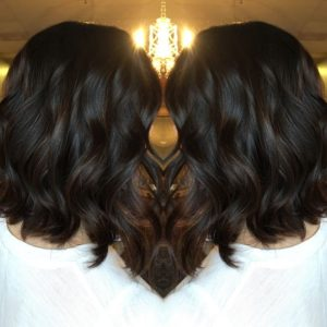 deep brown balayage