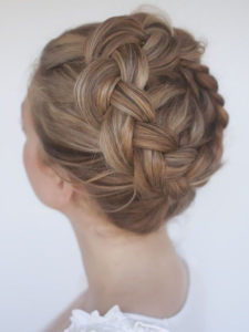 dutch crown braid