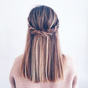 fishtail braid headband