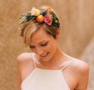 floral headband pixie