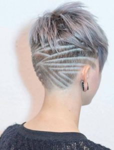 hair tattoo pixie