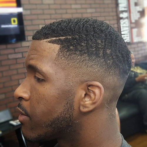 A Slight Wave Texture Adds Some Dimension To This Tapered Fade Cut Without  Looking Too Over The Top. Similarly, A Slim Razor Line Cut Into The  Hairline Is ...