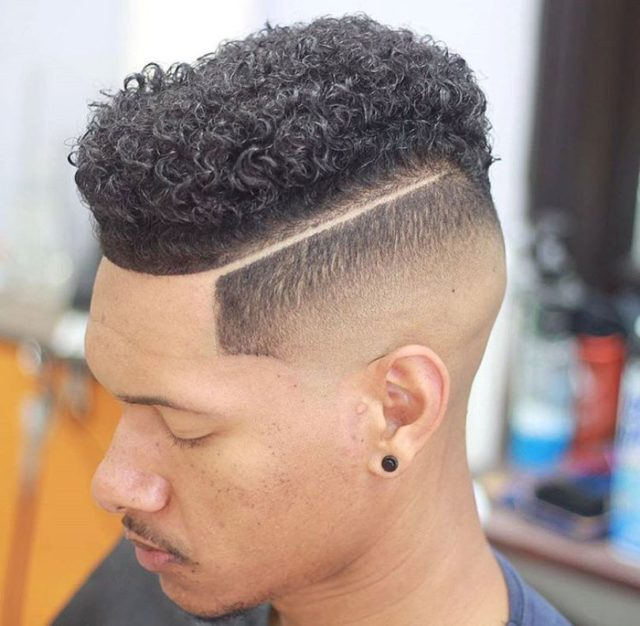 6High Fade Haircut U2013 Top Curls With Taper Haircut