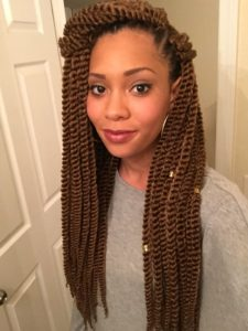honey brown crochet twists