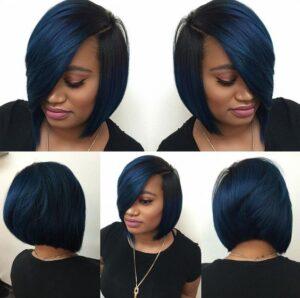 inverted blue bob
