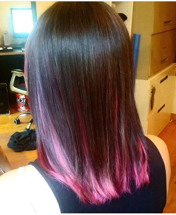 black hair with light pink highlights find your perfect