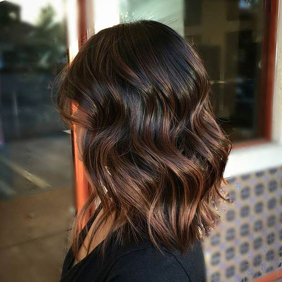 Dark Brown Hair Can Try Caramel Highlights How