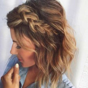 messy braided bangs