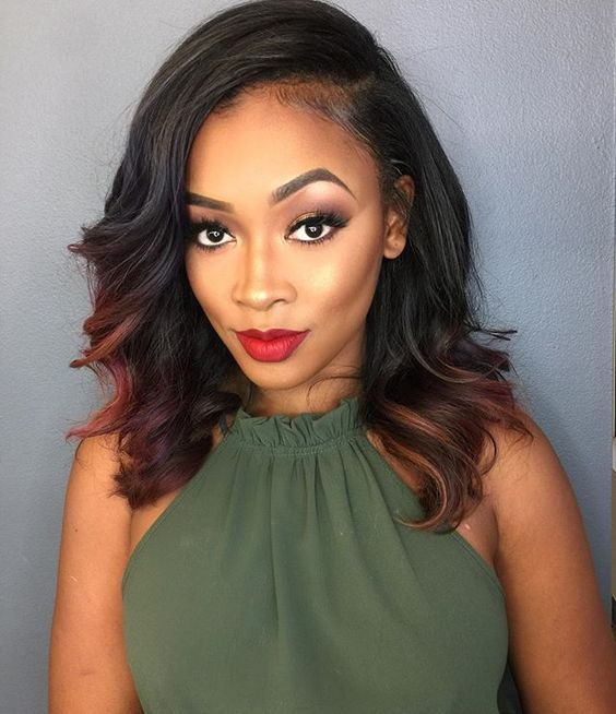 This Natural Looking Sew In Style Is Perfect For Women Who Want To Have Flawless Saay Night Hair And Still Look Professional On Monday Morning