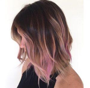 pink blonde balayage