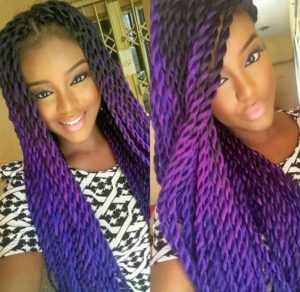 purple ombre twists