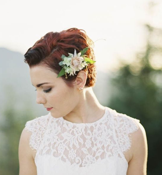18 Wedding Hairstyles You Must Have: 35 Modern Romantic Wedding Hairstyles For Short Hair