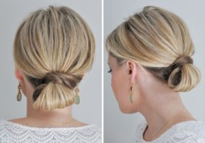 simple folded chignon