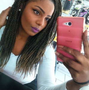 skinny blonde ombre twists