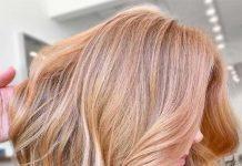 strawberry blonde hair