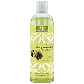 Beauty Aura 100% Pure Hexane-Free Grapeseed Oil