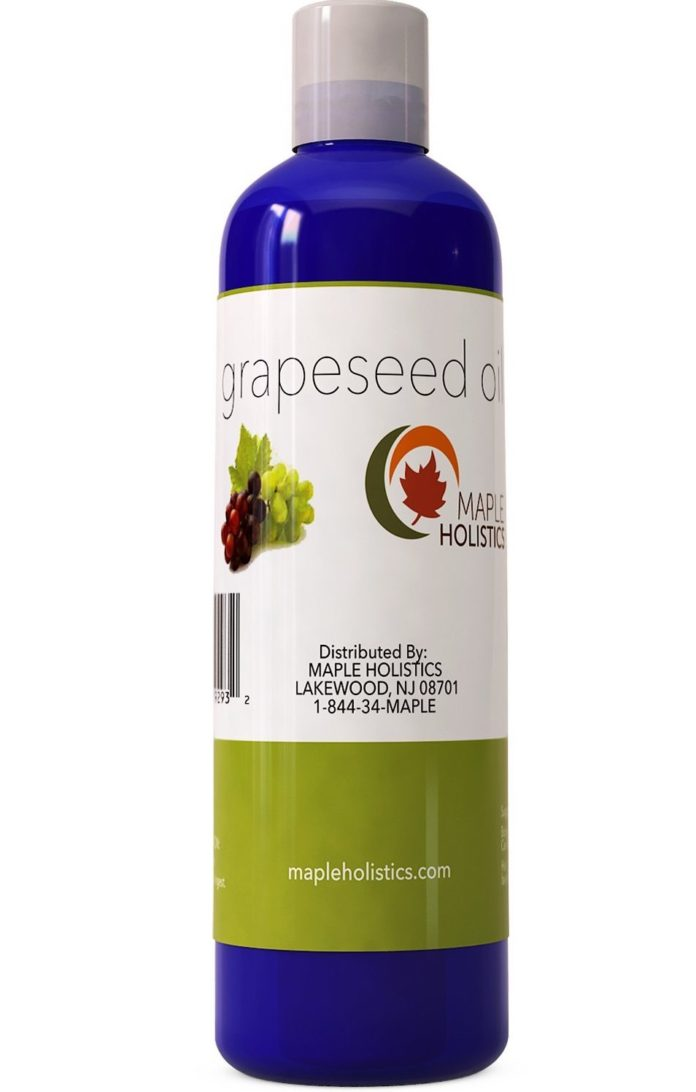 Pure Grapeseed Oil for Hair, Face & Acne