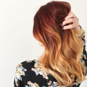 blonde red ombre