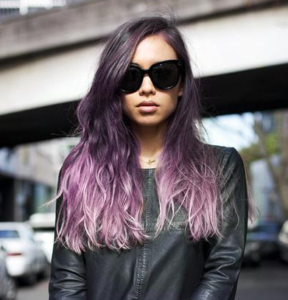 chic purple ombre