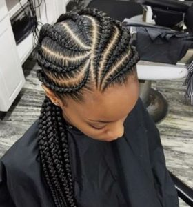 curved pattern braids