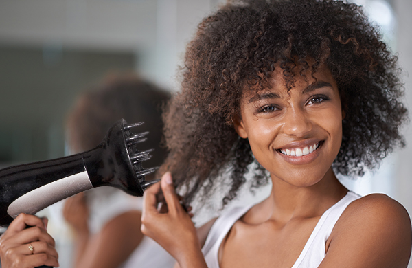 how to blow dry curly natural hair