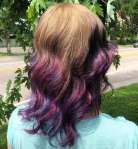 dimensional purple ombre